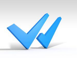 Blauwe Vinkjes in Whats App